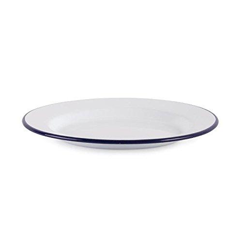 Olympia emaillierte Essteller weiß-blau 24,5cm