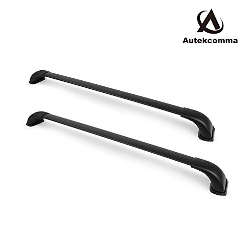 Autekcomma Roof Rack Cross Bars for Toyota Highlander 2014- 2019 XLE/Limited & SE/LE, Made of Solid Aluminum ,Black Matte Finishing.(Sold as 1 Pair)