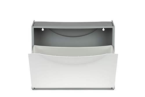 Terry Kreher Schuhkipper, Schuhschrank, Schuhbox aus Kunststoff in Weiß. Fasst ca. 3 Paar Schuhe. Flexibel erweiterbar, abwaschbar und leicht zu reinigen.