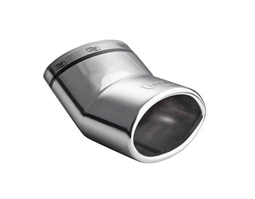 CARTUNER® Auspuffblende 453 Edelstahl in Sportauspuff Optik 95x65mm