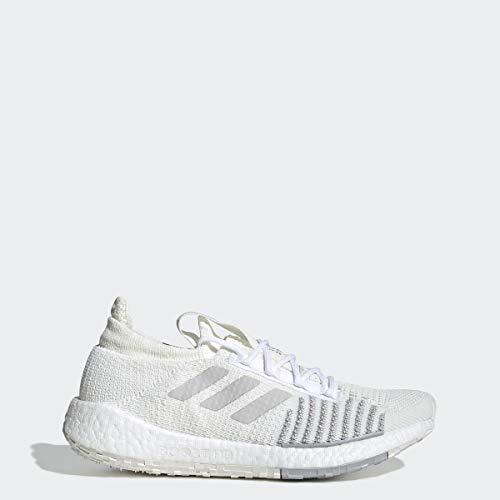 adidas Originals Women's PulseBOOST HD Running Shoe, White/Grey/Grey, 9.5 M US