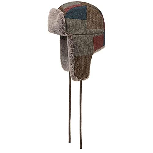 Stetson Cappello Aviatore Farson Wool Patchwork Uomo - chapka da con Fodera Autunno/Inverno - S (54-55 cm) a Colori