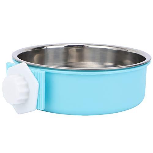 Balacoo - Cuencos Colgantes de Acero Inoxidable extraíbles, dispensador de Agua, alimentador de Alimentos, Jaula de Cuna para Mascotas, Cachorros y pájaros