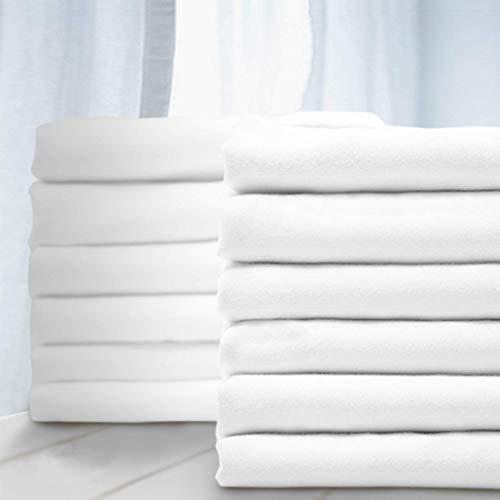 Juego de 8 fundas de almohada, color blanco, microfibra cepillada, hipoalergénica, resistente a las arrugas, 1 docena (blanco, King-8)