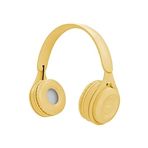 ELXSZJ XTZJ Auriculares inalámbricos sobre Oreja, Auriculares Bluetooth con micrófono, Auriculares estéreo inalámbricos