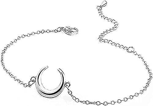Yiffshunl Halskette Edelstahl Halskette Armband mit Mondwachstum Verstellbare Armbänder Miete für Leinen Dessous Feiner Schmuck