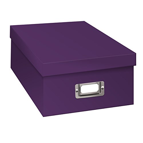 Pioneer B-1 Photo / Video Storage Box - Holds over 1,100 Photos up to 4x6' or 10 VHS Videos, Solid Color: Bright Purple.