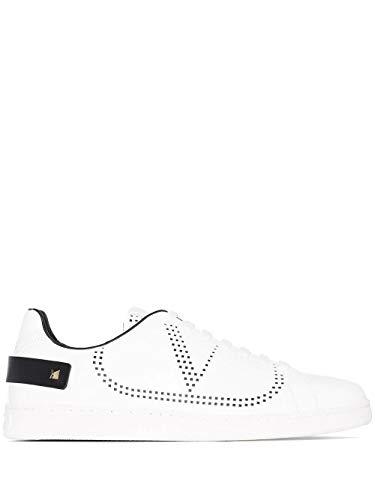Valentino Luxury Fashion Garavani Herren TY2S0C04DYHA01 Weiss Leder Sneakers   Jahreszeit Permanent
