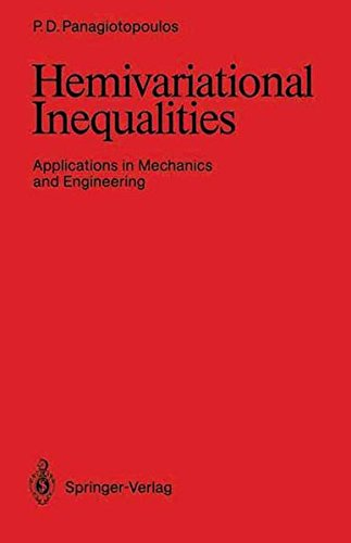 Hemivariational Inequalities: Applications in Mechanics and Engineering