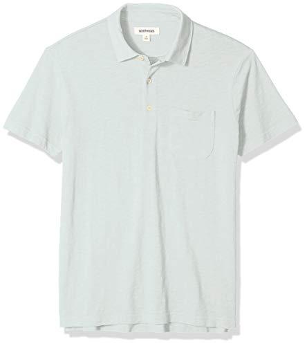 Amazon-Marke: Goodthreads Herren-Poloshirt, leicht, aus Slub-Baumwolle, Blau (Light Aqua Lig), US XL (EU XL - XXL)
