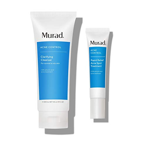 Murad Acne Control Bundle ($55 Value) with Rapid Relief Acne Spot Treatment with 2% Salicylic Acid (0.5 fl oz) and Clarifying Cleanser with Salicylic Acid (6.75 oz)