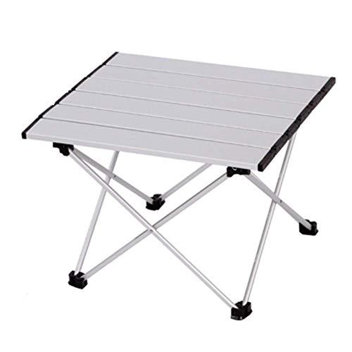 AOIWE Mesa plegable de aluminio al aire libre plegable pequeña mesa portátil barbacoa puestos de mesa
