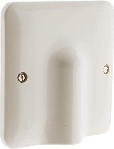 Indipc - Embellecedor para salida de cable (100 x 100 mm, incluye sujeta cables interior)