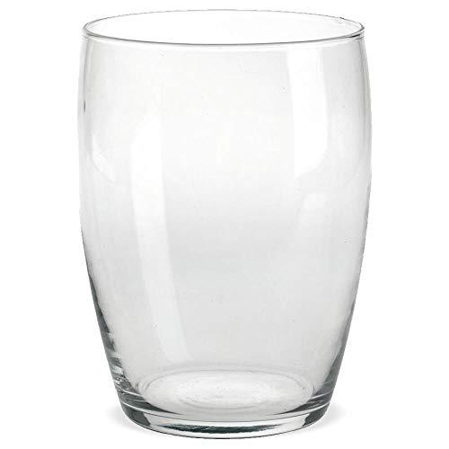 matches21 HOME & HOBBY Glazen vaas Glazen vaas Bloemenvaas Dekovase helder glas Decoratief glas bolvormig & grote opening 1 stuk Ø 14x19,5 cm