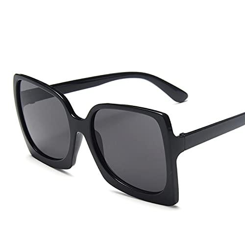 Aiong Gafas de Sol, Gafas de Sol de Gran tamaño lastic Grandes Gafas de Sol gradiente Femeninas