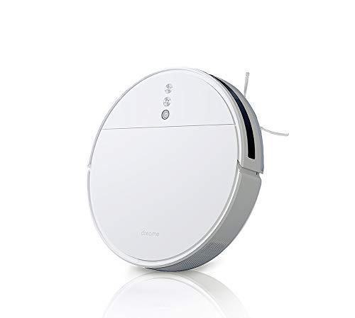 Dreame F9 Robot Aspirateur Wi-Fi Super-Thin 2500Pa Aspirateur Robotique À Aspiration Forte Auto-Rechargeable Connectivité App Contrôles Bon pour les Sols Durs, Les Poils D'animaux, Les Tapis