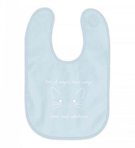 Nicht alle Engel haben Flügel - Manche haben Schnurrhaare   Katze Katzen Kätzchen - Baby Lätzchen