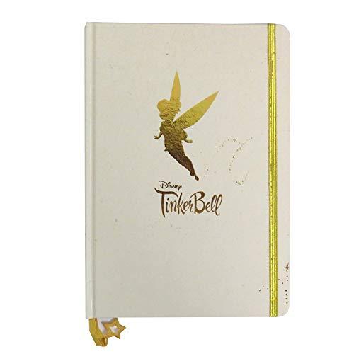 Tinkerbell Gold A5 Notizbuch mit Goldarmband und Charm - 160 Seiten