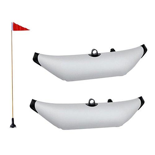perfeclan 2X Estabilizador De Estabilizador Inflable De Kayak De PVC Duradero Y Soporte De Asta De Bandera De Kayak