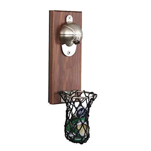 Sacacorchos Botella de baloncesto abrelatas con la cápsula del colector, magnético refrigerador Botella Etiqueta abridor, abridor de botellas de cerveza, de regalo ideal for el baloncesto y amantes de