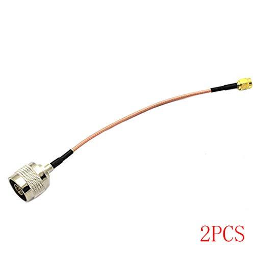 Floridivy 1/2/4 / 6pcs 15cm N Male Jack para N SMA Cable de SMA Adaptador Macho Cable M/M del conectador de RF coaxial Flexible de conexión WLAN 2