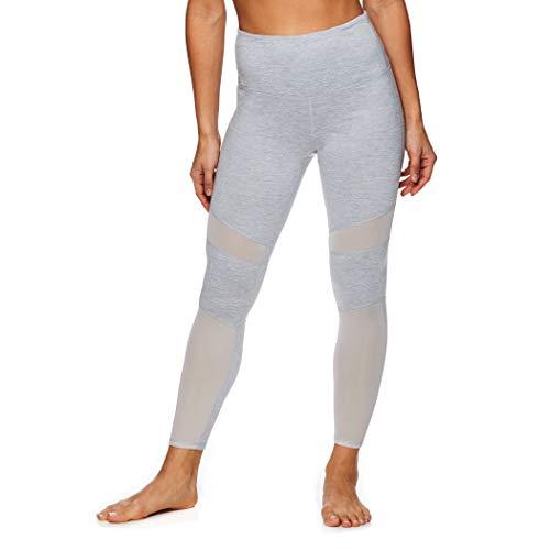 gaiam Damen Om High Rise Waist Yoga Pants – Performance Spandex Kompressionsleggings - Grau - X-Groß