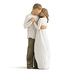 Sentiment: Hold dear the promise of love written on enclosure card 9 Inch hand-painted resin figure; ready to display on a shelf, table or mantel; to clean, dust with soft brush or cloth An expression of love and caring; a wedding, anniversary or val...