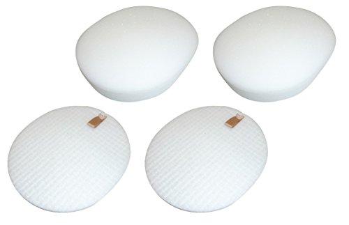 Best Vacuum Filter 2 Pack Compatible with Shark NV80 Foam & Felt Filter Set for Shark Navigator Professional Upright Vacuum NV70, NV80, NV90 & UV420 Part # XFF80