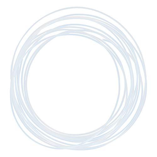 Othmro PTFE Tubi 1,5 mm ID x 1,9 mm OD x 15 ft PTFE Tubo per PLA ABS Stampante 3D Bianco Latteo 1 PZ