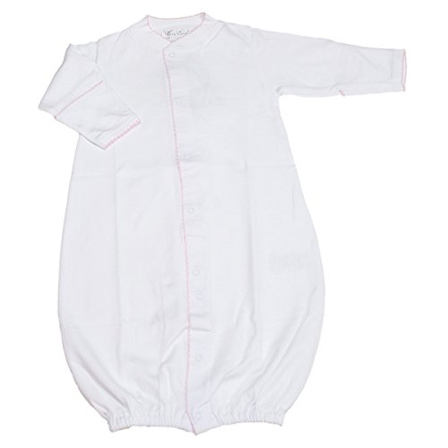 Kissy Kissy - Basic Converter Gown - White Pink-Newborn