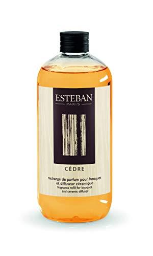 ESTEBAN PARIS - Ricarica di profumo 500ml CEDRO per bouquet e diffusore in ceramica CED-136