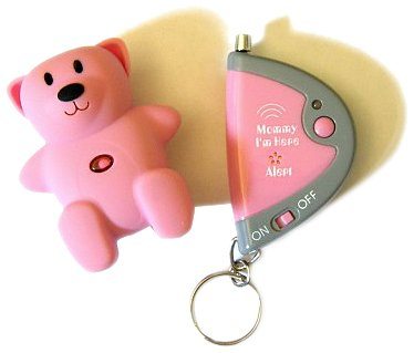 Mommy I'm Here CL305HP Hot Pink Bear Child Locator, 1-Pack