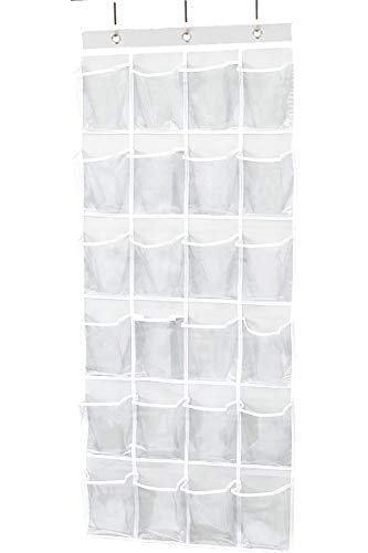N  A Over The Door Hanging Shoes Organizer Rack 24 Pocket Pantry Organizer - Clear