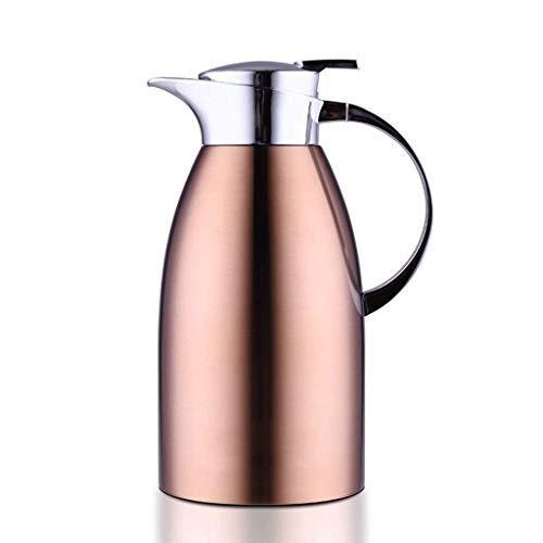WYJW 2 liter vacuüm kan, dubbelwandig, 304 roestvrij staal koffiemachine koffie glycol thee sap met isolerende melk 68Oz (kleur: B)