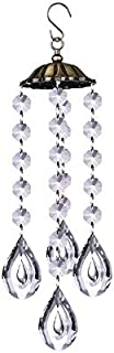 DMtse Feng Shui Chandelier Wind Chimes Crystal Prisms Hanging Suncatcher Pendant Hanger for Window Curtains Home Garden De...