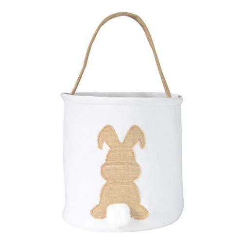 PRETYZOOM Cesta de yute para caramelos con bola para el pelo y soporte para caramelos, bolsa de la compra portátil para niños