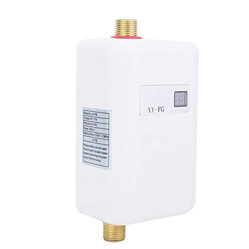 Durchlauferhitzer, 3800W Electric Tankless Durchlauferhitzer Smart-Durchlauferhitzer LCD Digital Display für zu Hause Bad Dusche(EU-Stecker 220V)