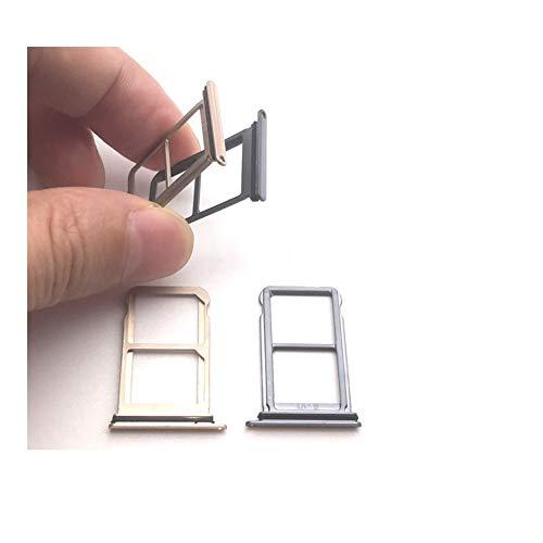 Fácil de usar For Huawei P20 ranura For tarjetas SIM dual Reemplazar bandeja de tarjeta SIM OEM Micro SD ranura zócalo de piezas de reparación de oro gris de repuesto For teléfono Durable