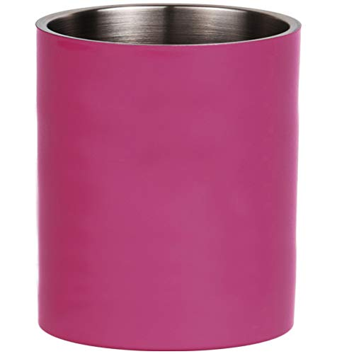 Thermo-Becher Edelstahl | Thermoisoliert | Langlebig | Farbig | Camping | Kinder | Schule | Büro | Outdoor | 0,3 l | 0,4 l | Tasse (Telemagenta (Pink), 0,3 l)