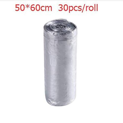 ZZBMKJ 1 Roll! Grands Sacs à ordures Verts jetables Sacs en Plastique à Bouche Plate pour Point d'arrêt pour la Cuisine Sacs à ordures en Plastique jetables Solides de la Maison