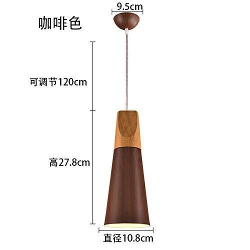 Hai Ying * hanglamp kroonluchter restaurant licht eenvoudig kantoor houtnerf creatieve persoonlijkheid 10X27 cm