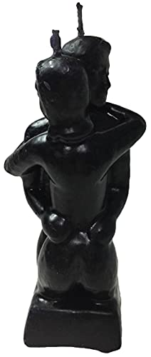 Black Erotic Couple Shape - Spellcasting Candle – Wicca - Hoodoo-by Natural Farms