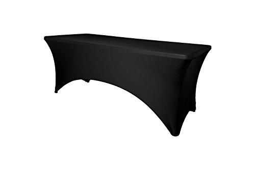 Expand Tischhusse, Tischcover Schwarz - Tisch Husse, Cover als Tischdecke - 170cm bis 200cm - Geschlossen - Stretch