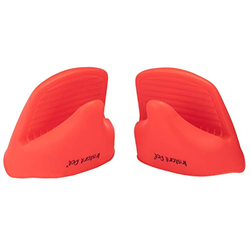 Instant Pot Silicone Mitts (Set of 2), Mini, Red by Instant Pot