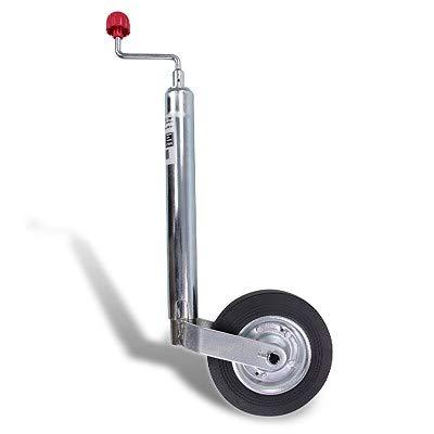 BESTPRICE Stützrad Anhänger 150 kg höhenverstellbar mit Vollgummireifen 48mm Durchmesser, Wohnwagen Stützrad