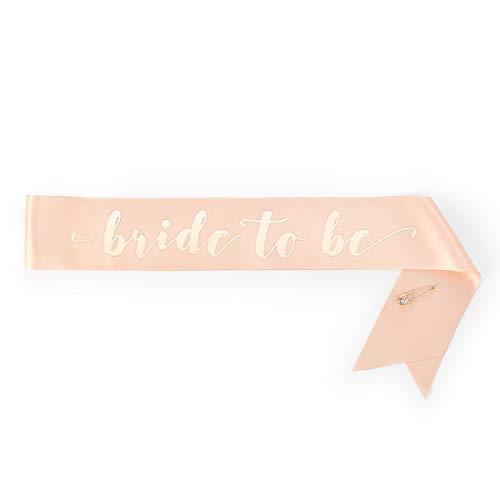 xo, Fetti Rose Gold Bachelorette Party Sash - Bride To Be   Bachelorette Party Decorations - Sash for Bride   Bridal Shower Gift   Engagement Party Decoration   Bach Favor