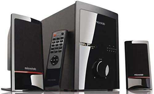 Microlab m-700U Aktivbox 2.1 Multimedia Lautsprechersystem (46 Watt RMS) Schwarz