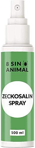 8 Sin - Zeckosalin Spray - für Tiere (Hund, Katze) - 100 ml Flasche