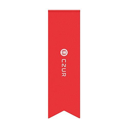 CZUR Metall Lesezeichen - Kreative Geschenk Lesezeichen für Frauen Männer Stilvolle Clip Halter Aluminiumlegierung Halterung für langlebige Verwendung (Candy Apple Rot)