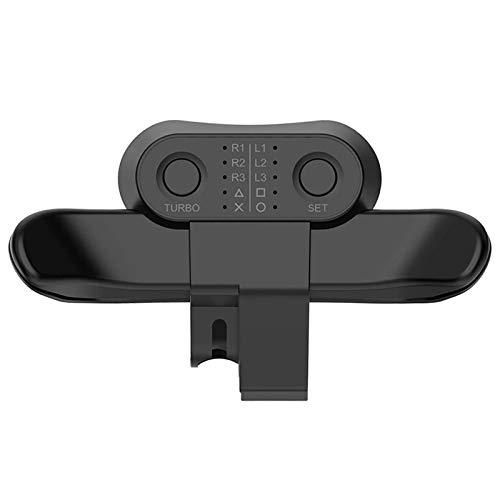 発売 ps4 背面アタッチメント Chechna 簡単設定 背面パドル PS4 Slim/Proコントローラー用 背面 ボタン TURBO 機能 連射 ターボ 機能ボタンのマッピング 日本語取扱説明書(ブラック)